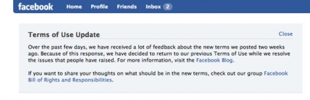 Facebook Message to Users